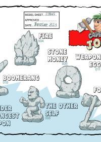Concept art Joe & Mac recherche graphique pour le jeu xbox