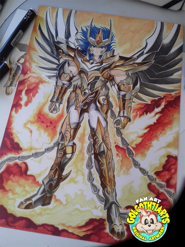 Fan art Ikki chevalier Phoenix
